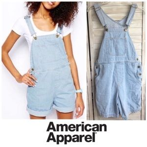 Denim bib short-alls AMERICAN APPAREL XS overalls